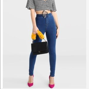 H&M High Waisted Blue Jeans
